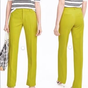Banana Republic Lime Green Chartreuse Trousers Sz4